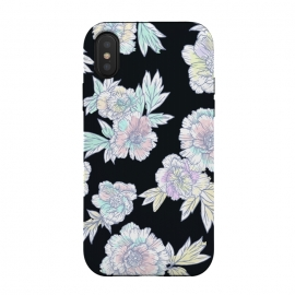 iPhone X  Summer Piony by Susanna Nousiainen (piony,lush flower,drawnflower,summer flower,floral,flower pattern)