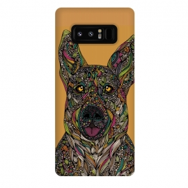 Galaxy Note 8  Baxter by  (Dog,dog lover,pet,colors,doodles,animals,valentina harper)