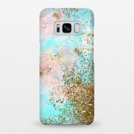 Galaxy S8+  Pink and Teal and Gold Mermaid Glitter Seafoam by Utart