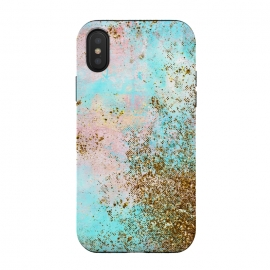 Pink and Teal and Gold Mermaid Glitter Seafoam by Utart