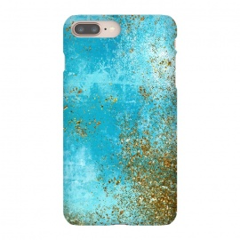 iPhone 8/7 plus  Teal and Gold Mermaid Ocean Seafoam by