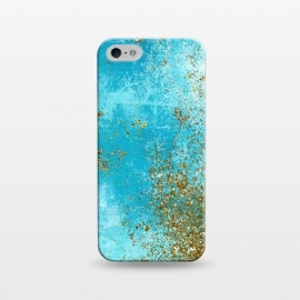 iPhone 5/5E/5s  Teal and Gold Mermaid Ocean Seafoam by Utart