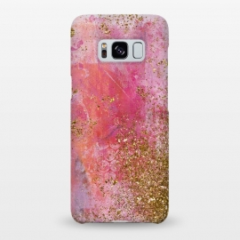 Galaxy S8+  Pink and Gold Mermaid Glitter Seafoam by Utart