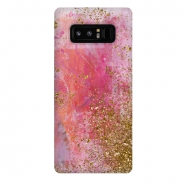 Galaxy Note 8  Pink and Gold Mermaid Glitter Seafoam by