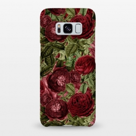 Galaxy S8+  Victorian Dark Red Vintage Roses by Utart