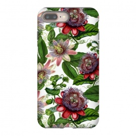 Colorful Vintage Passiflora Pattern by Utart