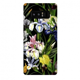 Galaxy Note 8  Dark Vintage Iris Flowers Pattern by Utart