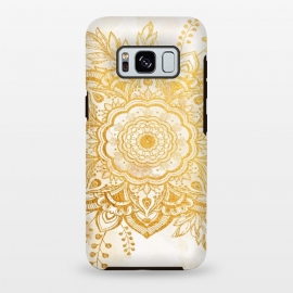Galaxy S8+  Queen Starring of Mandala-Gold Sunflower I by ''CVogiatzi.