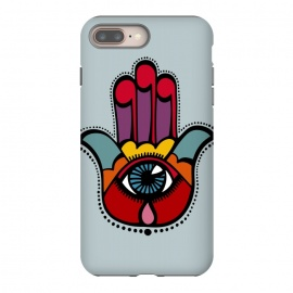 iPhone 8/7 plus  Pop Hamsa over Blue by Majoih