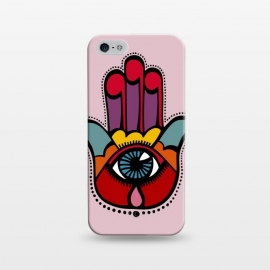 iPhone 5/5E/5s  Pop Hamsa over Pink by