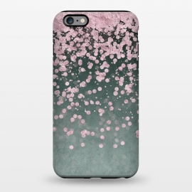iPhone 6/6s plus  Pink Glitter On Teal by Andrea Haase