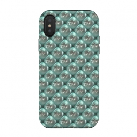iPhone Xs / X  Shiny Turquoise Pearls by