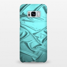 Galaxy S8+  Shimmering Teal Satin by Andrea Haase
