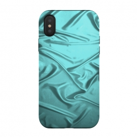 iPhone X  Shimmering Teal Satin by Andrea Haase