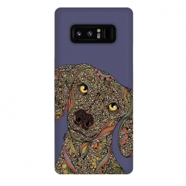 Galaxy Note 8  Roxie by  (Dogs,Dog lover,Pets,animals,colors,doodles,valentina harper,ink)