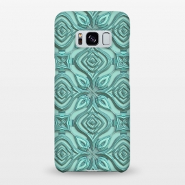 Galaxy S8+  Elegant Green Turquoise Ornament Pattern by Andrea Haase
