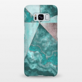 Galaxy S8+  Rosegold And Gemstone Collage by Andrea Haase