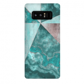 Galaxy Note 8  Rosegold And Gemstone Collage by Andrea Haase