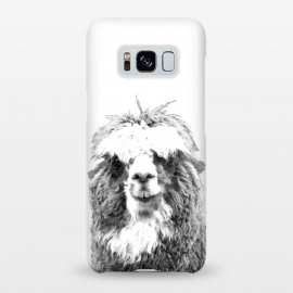 Galaxy S8+  Black and White Alpaca by Alemi