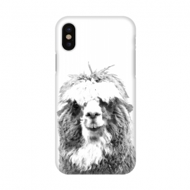 iPhone X  Black and White Alpaca by Alemi
