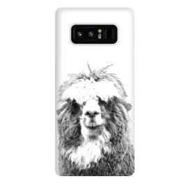 Galaxy Note 8  Black and White Alpaca by Alemi