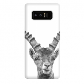Galaxy Note 8  Black and White Capricorn by Alemi