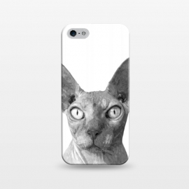 iPhone 5/5E/5s  Black and White Sphynx by Alemi