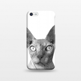 iPhone 5C  Black and White Sphynx by Alemi