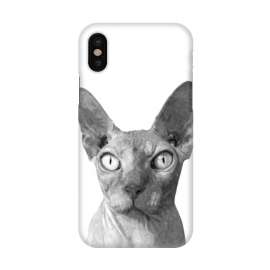 iPhone X  Black and White Sphynx by Alemi