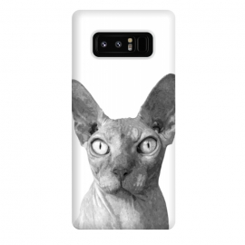 Galaxy Note 8  Black and White Sphynx by Alemi