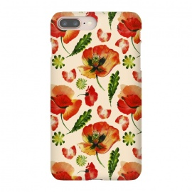 Watercolor Poppy Pattern by Utart