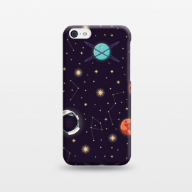 iPhone 5C  Universe with planets, stars and astronaut helmet seamless pattern, cosmos starry night sky, vector illustration by Jelena Obradovic