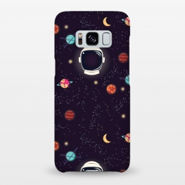 Galaxy S8+  Universe with planets, stars and astronaut helmet seamless pattern, cosmos starry night sky by Jelena Obradovic