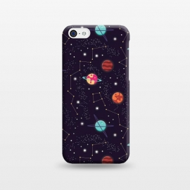 iPhone 5C  Universe with planets and stars seamless pattern, cosmos starry night sky 004 by Jelena Obradovic
