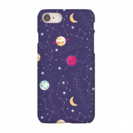 iPhone 8/7  Universe with planets and stars seamless pattern, cosmos starry night sky 006 by Jelena Obradovic
