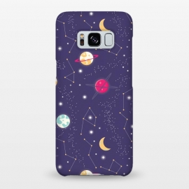 Galaxy S8+  Universe with planets and stars seamless pattern, cosmos starry night sky 006 by Jelena Obradovic
