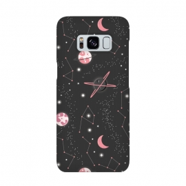 Universe with planets and stars seamless pattern, cosmos starry night sky 007 by Jelena Obradovic