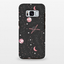 Galaxy S8+  Universe with planets and stars seamless pattern, cosmos starry night sky 007 by Jelena Obradovic