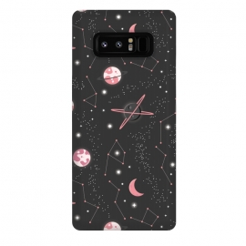 Galaxy Note 8  Universe with planets and stars seamless pattern, cosmos starry night sky 007 by Jelena Obradovic