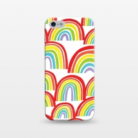 iPhone 5/5E/5s  Rainbow Shine by Kimrhi Studios (rainbows,rainbow,weather,pattern,gouache,painted)
