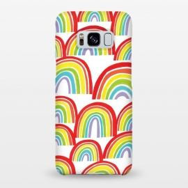 Galaxy S8+  Rainbow Shine by Kimrhi Studios (rainbows,rainbow,weather,pattern,gouache,painted)