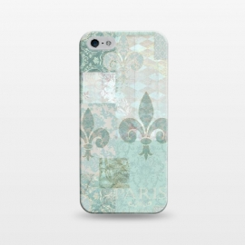 iPhone 5/5E/5s  Vintage Patchwork Soft Teal by Andrea Haase