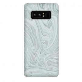 Galaxy Note 8  Teal Grey Soft Pastel Marble by Andrea Haase