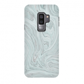 Galaxy S9+  Teal Grey Soft Pastel Marble by Andrea Haase