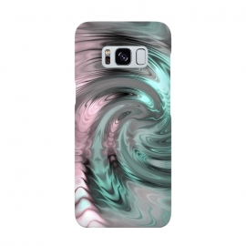 Abstract Fractal Swirl Rose Gold And Teal by Andrea Haase