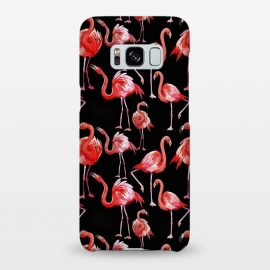 Galaxy S8+  Flamingos on Black by Utart