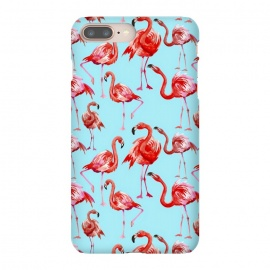 iPhone 8/7 plus  Flamingos on Blue by