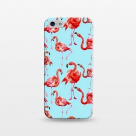 iPhone 5/5E/5s  Flamingos on Blue by Utart