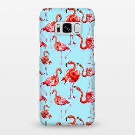 Galaxy S8+  Flamingos on Blue by Utart