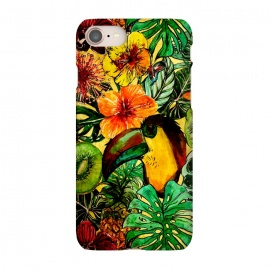 iPhone 8/7  Tropical bird in flower jungle by Utart